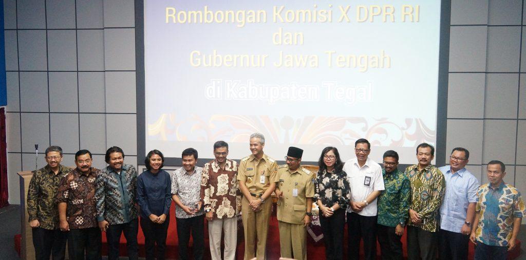 Bupati Tegal dan Gubernur Jateng Sambut Kunjungan Kerja Komisi X DPR RI
