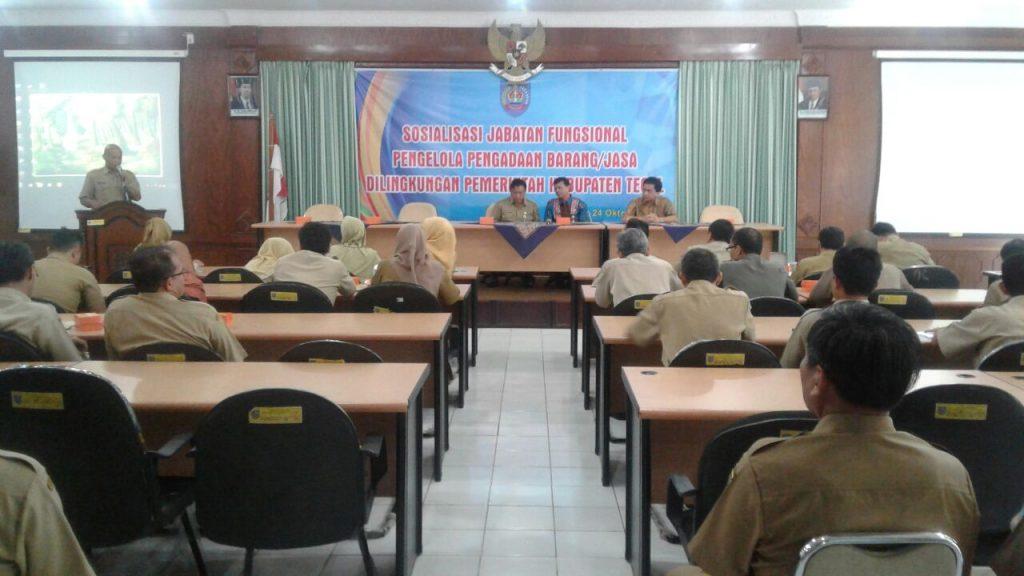 Pemkab Tegal Sosialisasi Jabatan Fungsional Pengelola Pengadaan Barang dan Jasa