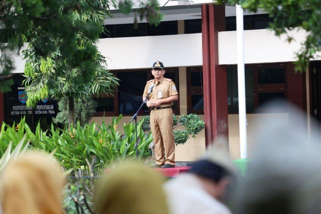 Apel Perdana, Pjs. Bupati Tegal Siap Wakafkan Pengalamannya Untuk Masyarakat Kabupaten Tegal